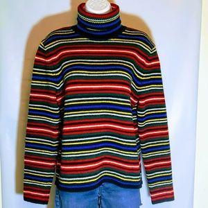 Ralph Lauren Lambswool & Angora Striped Sweater